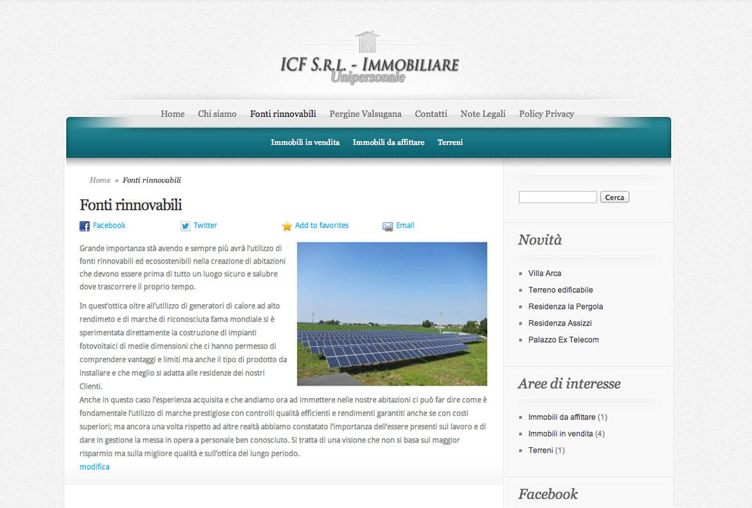 Realizzazione siti web trento - ICF 2