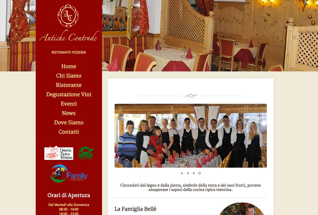 Realizzazione siti web trento - antiche-contrade-pergine-valsugana 0