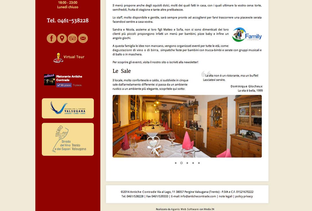 Realizzazione siti web trento - antiche-contrade-pergine-valsugana 2