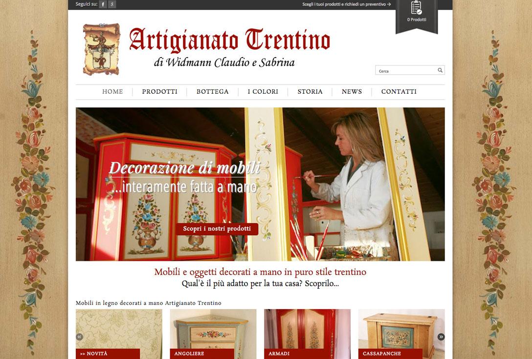 Realizzazione siti web trento - artigianato trentino 1