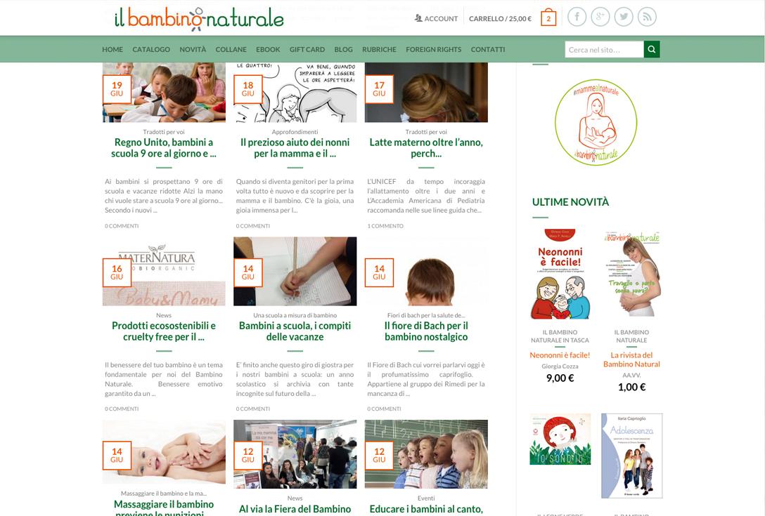 Realizzazione siti web trento - bambinonaturale 2