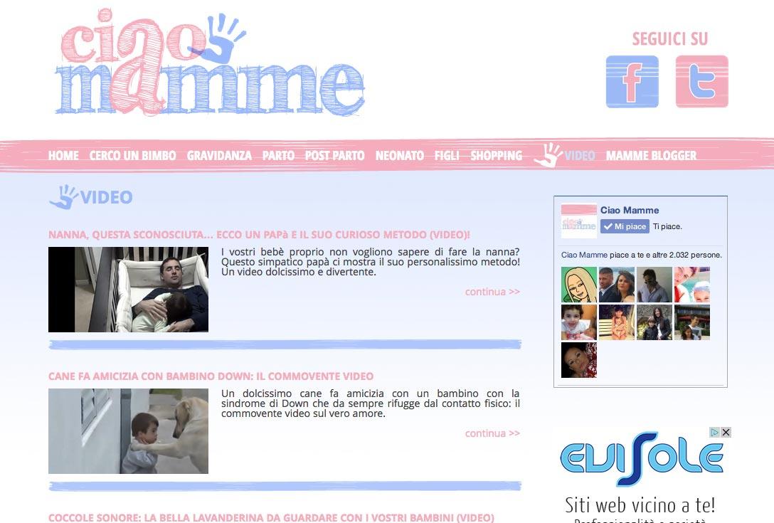 Realizzazione siti web trento - ciaomamme 2