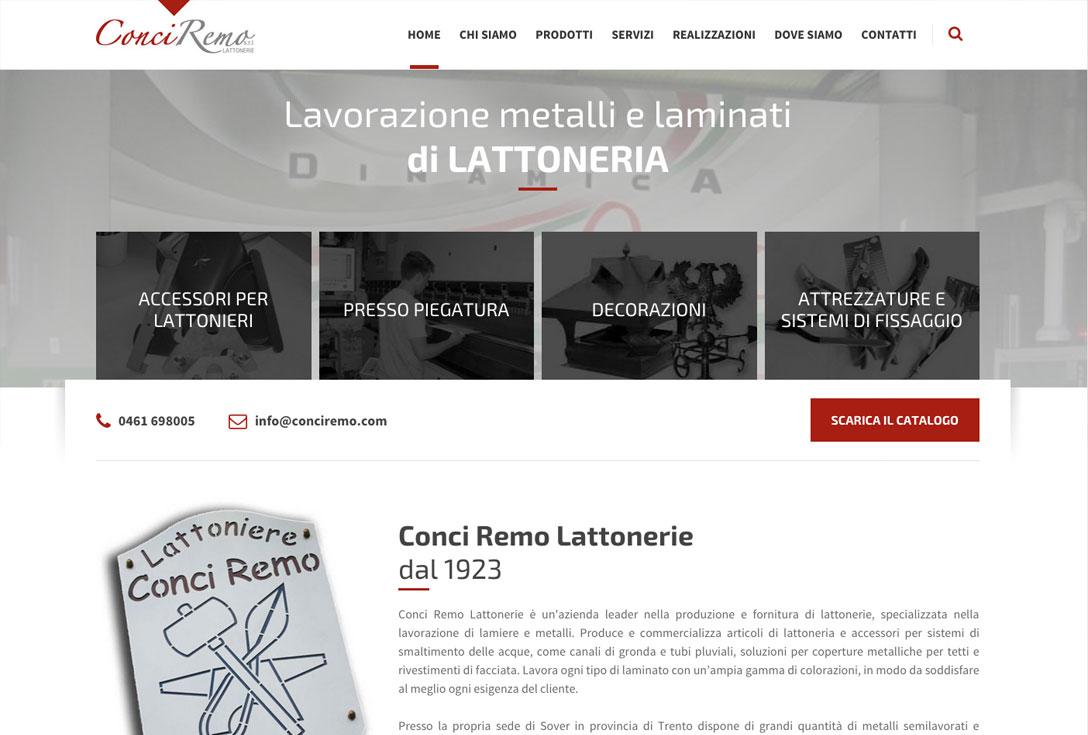 Realizzazione siti web trento - conci remo 0