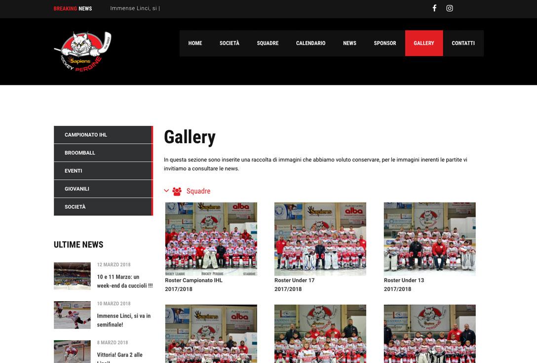 Realizzazione siti web trento - hockeypergine