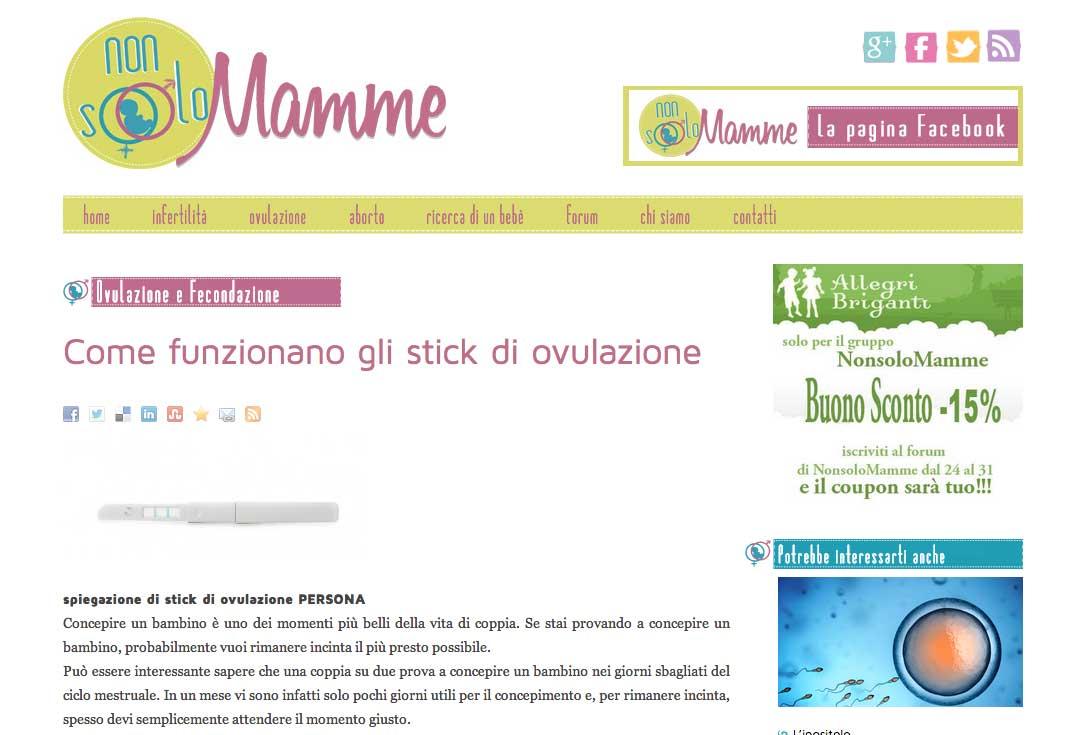 Realizzazione siti web trento - nonsolomamme 2