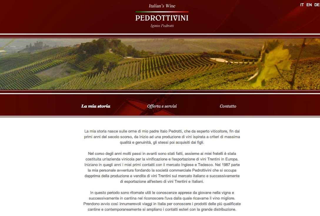 Realizzazione siti web trento - pedrottivini 1
