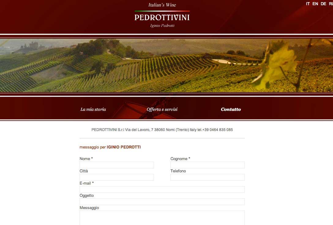 Realizzazione siti web trento - pedrottivini 2