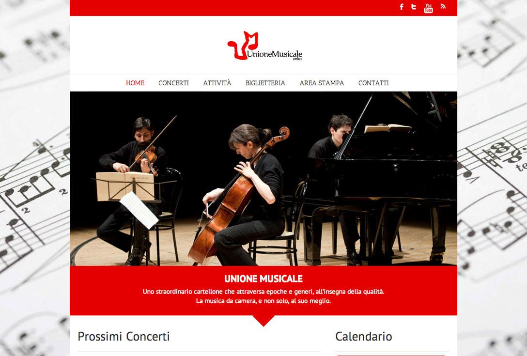 Realizzazione siti web trento - unione-musicale-torino 0