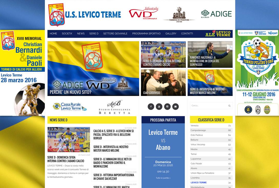 Realizzazione siti web trento - uslevicoterme 0