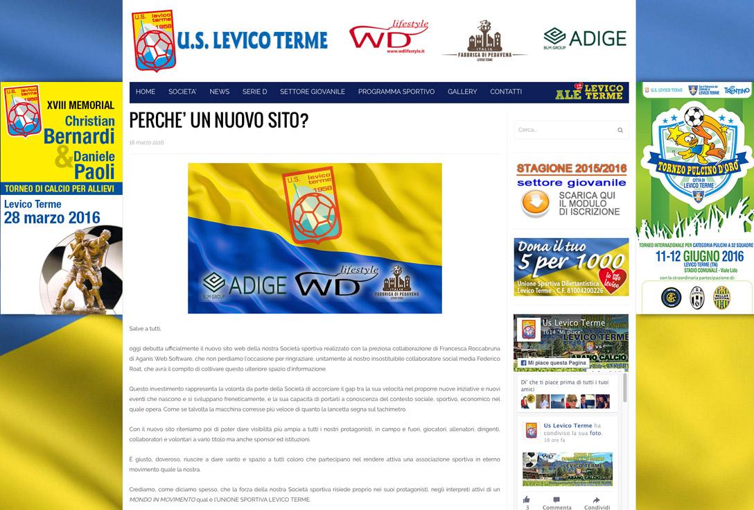 Realizzazione siti web trento - uslevicoterme 2
