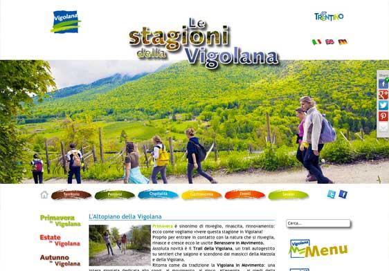 Realizzazione siti web trento - vigolana 1