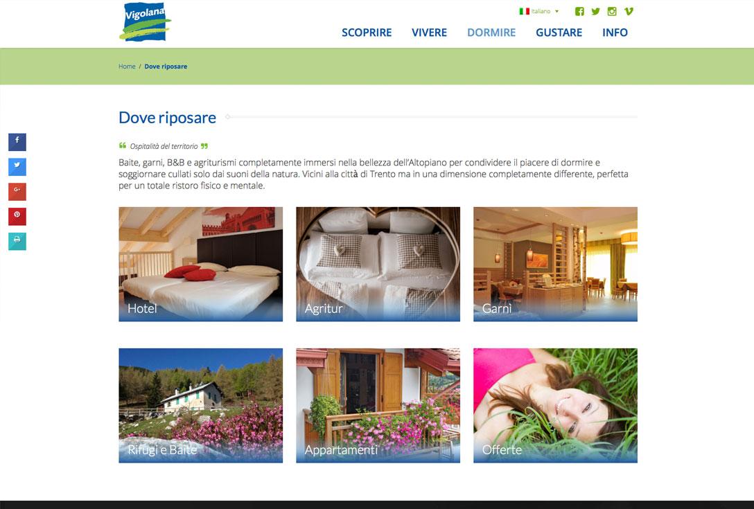Realizzazione siti web trento - vigolana2.0 2