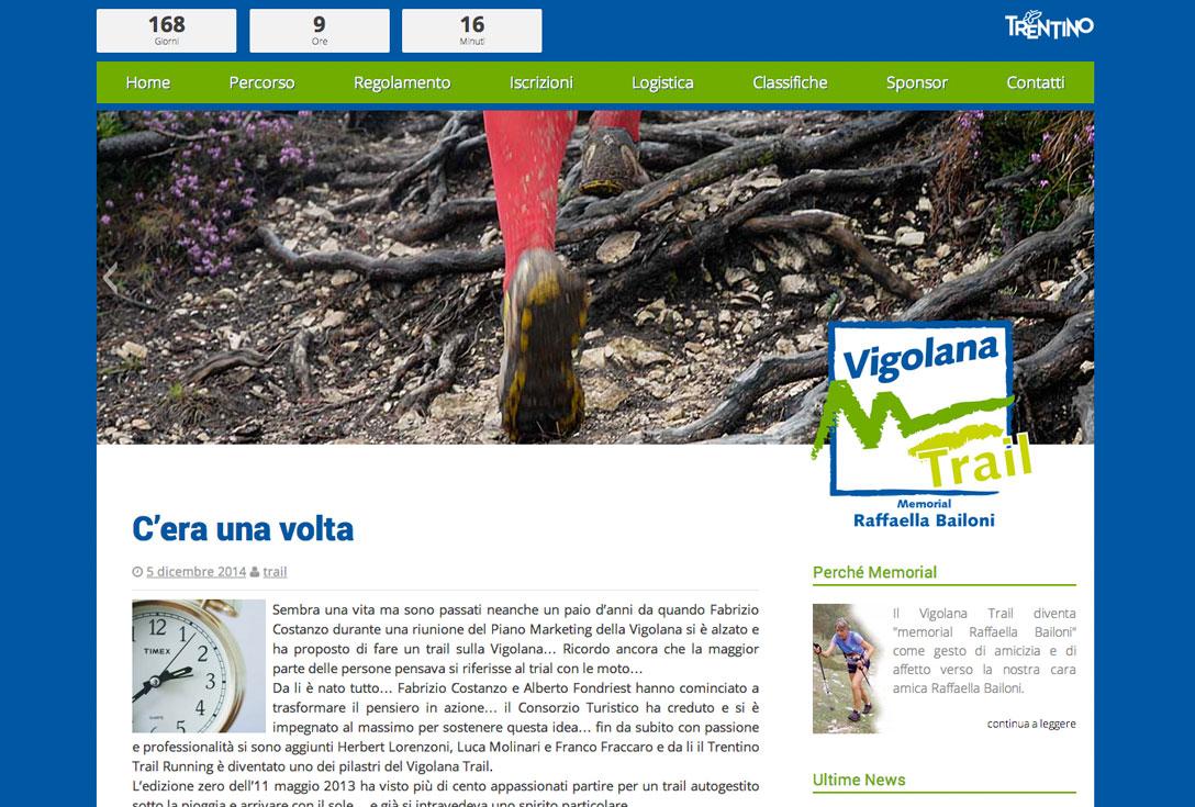Realizzazione Siti Web - vigolanatrail 1