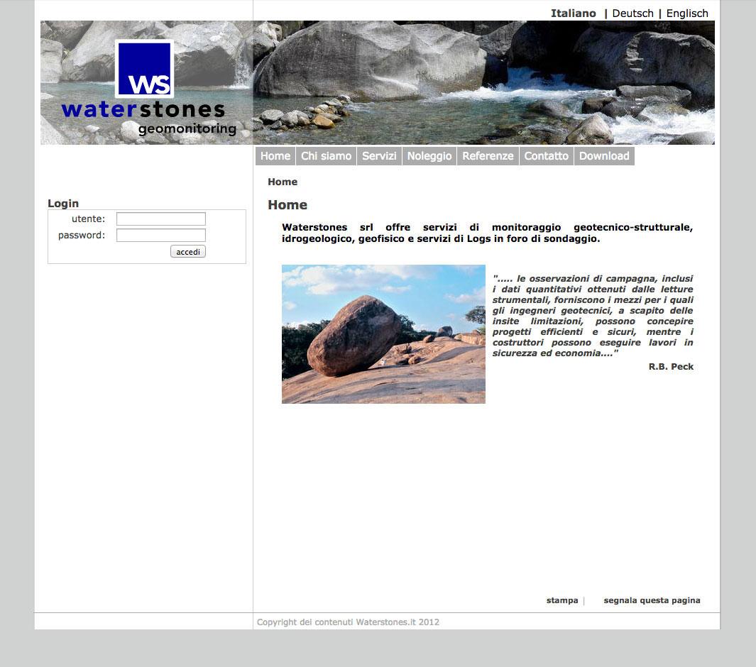 Realizzazione siti web trento - waterstones 1