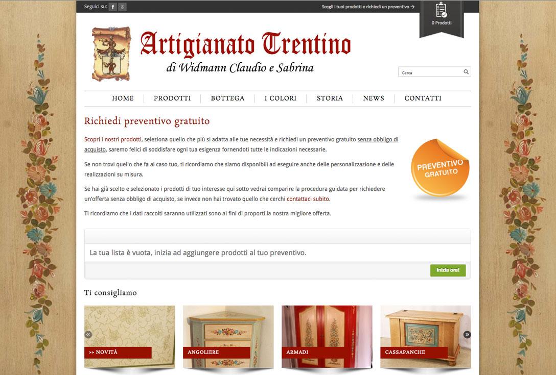 Realizzazione siti web trento - artigianato trentino 0
