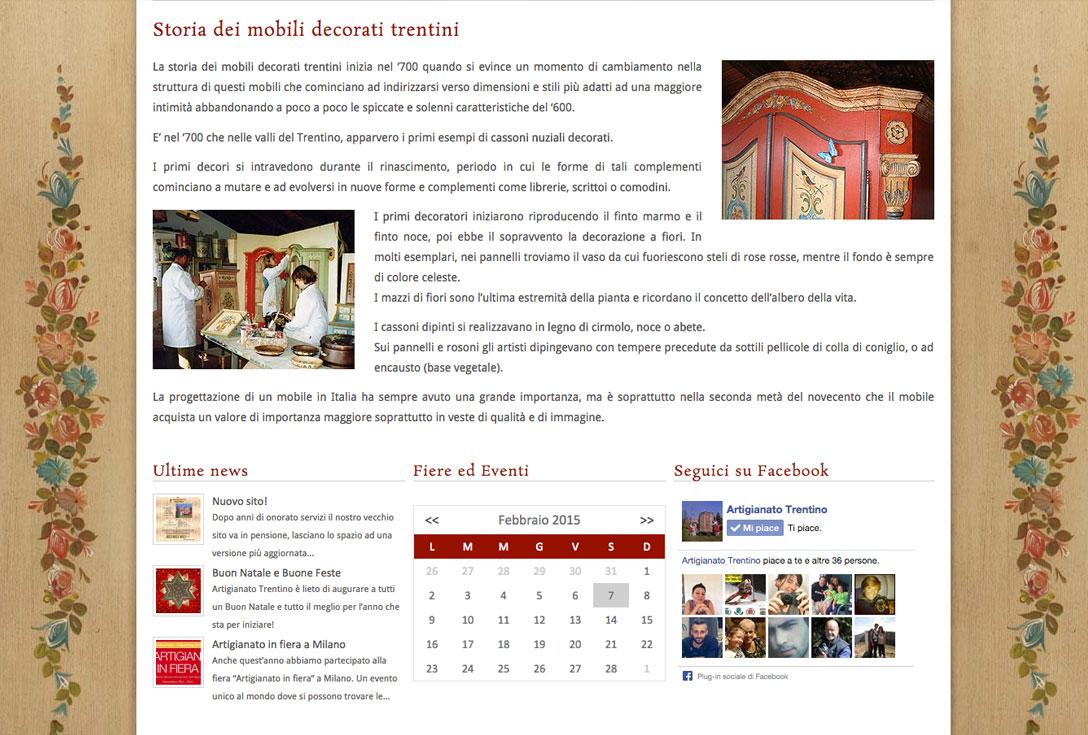 Realizzazione siti web trento - artigianato trentino 2