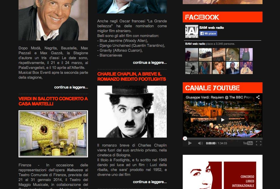 Realizzazione siti web trento - bamradio 1