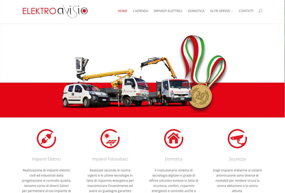 Realizzazione siti web trento - Elektroavisio 1