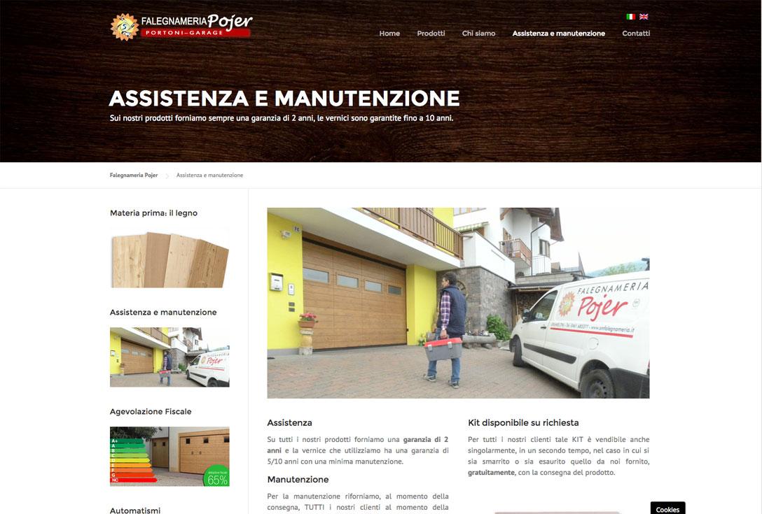 Realizzazione siti web trento - falegnameria pojer 2