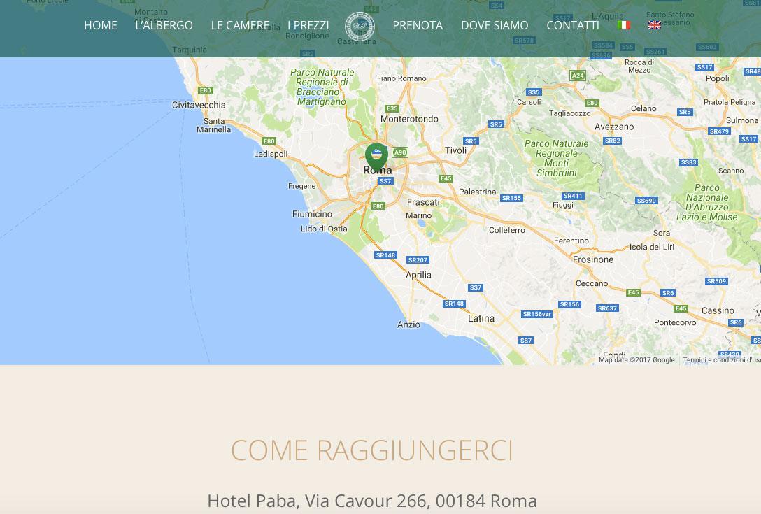 Realizzazione siti web trento - hotelpaba