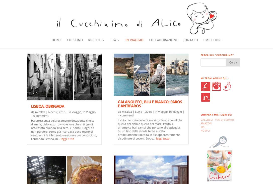 Realizzazione siti web trento - Il Cucchiaino di Alice 0