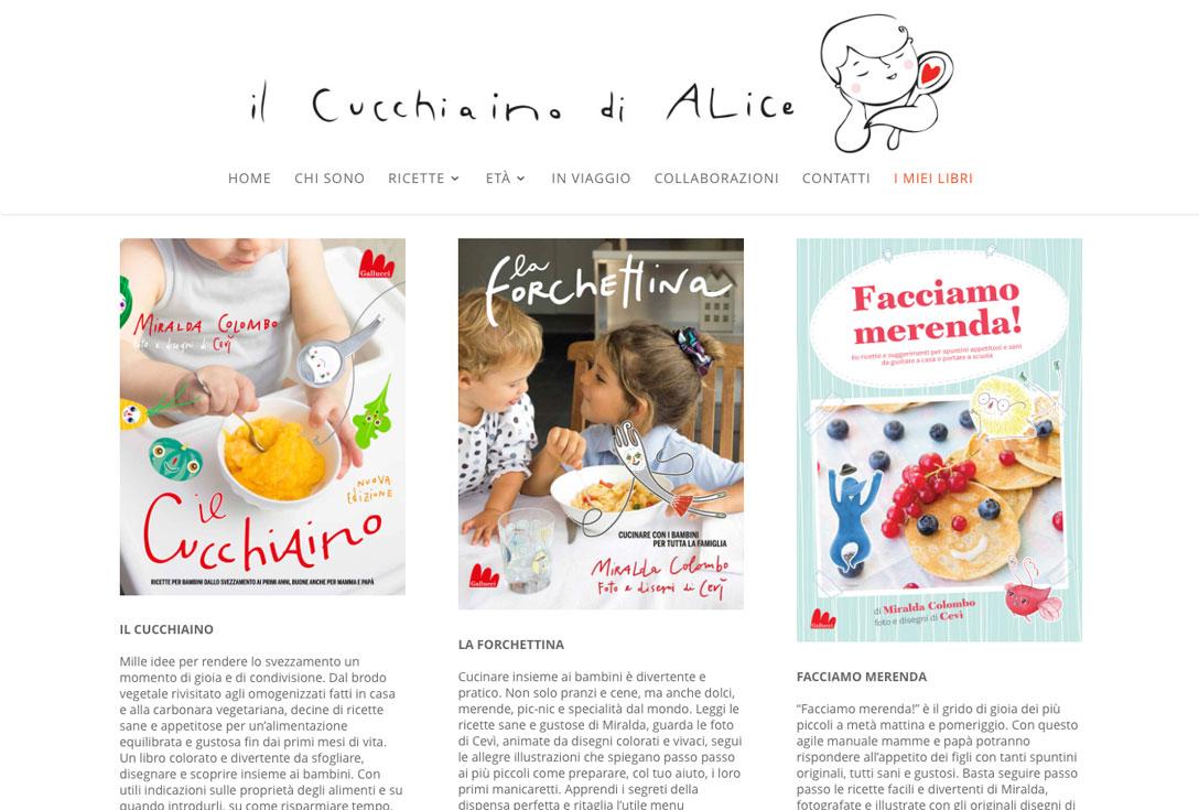 Realizzazione siti web trento - Il Cucchiaino di Alice 2