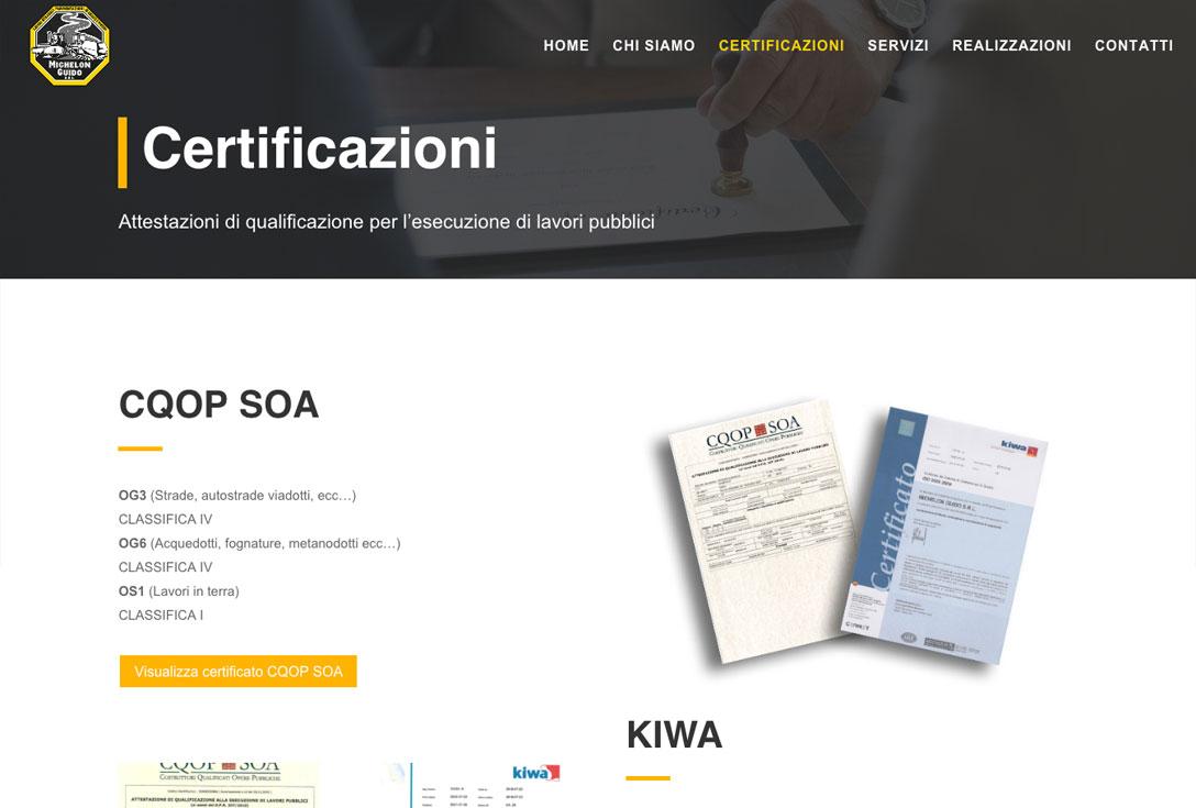 Realizzazione siti web trento - michelonguido