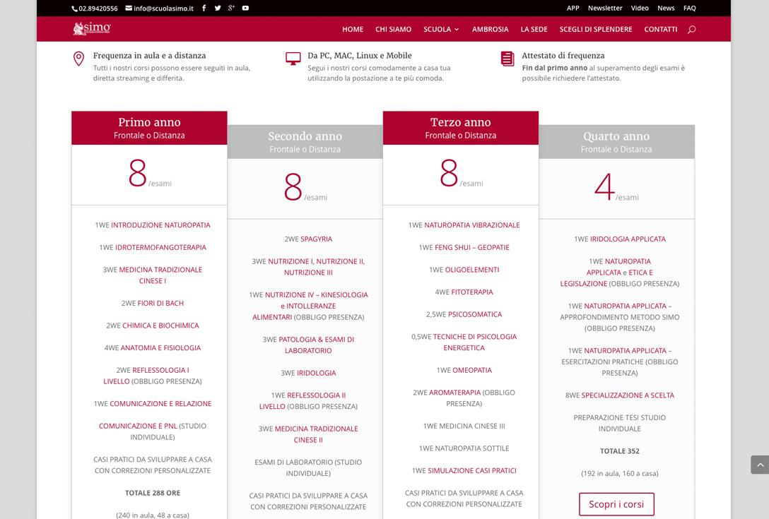 Realizzazione siti web trento - scuolasimo 2
