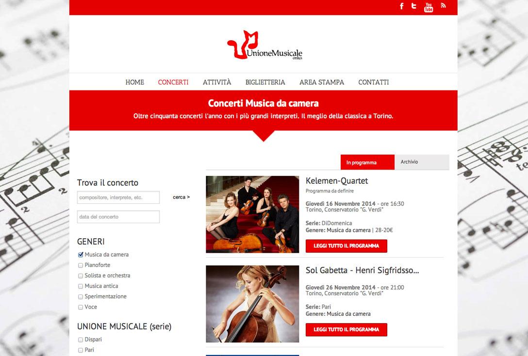 Realizzazione siti web trento - unione-musicale-torino 1