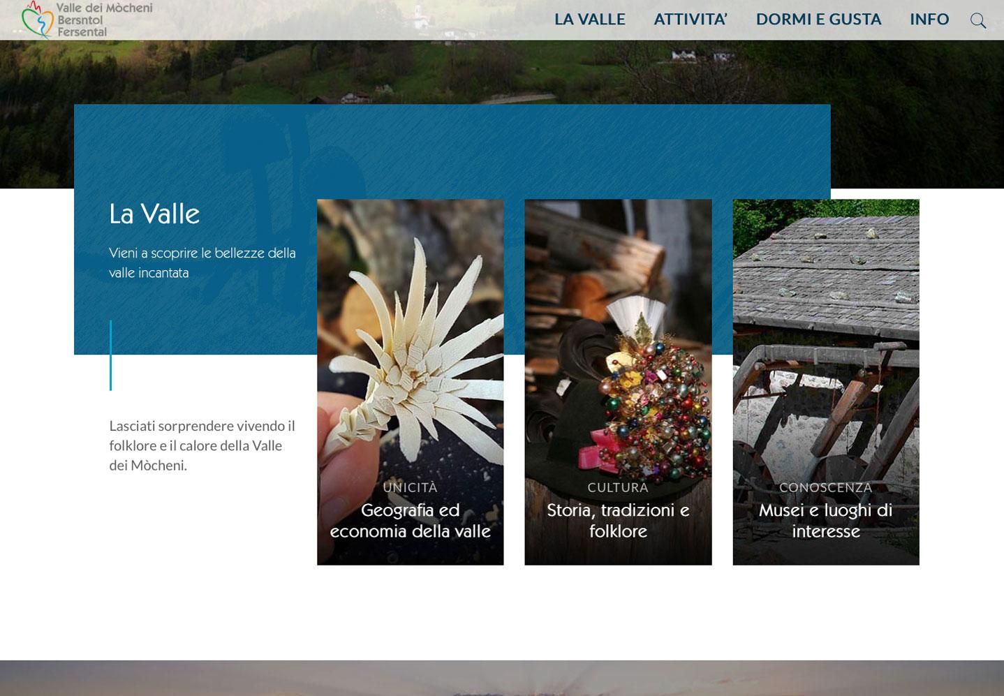 Realizzazione siti web trento -  Valle dei Mocheni