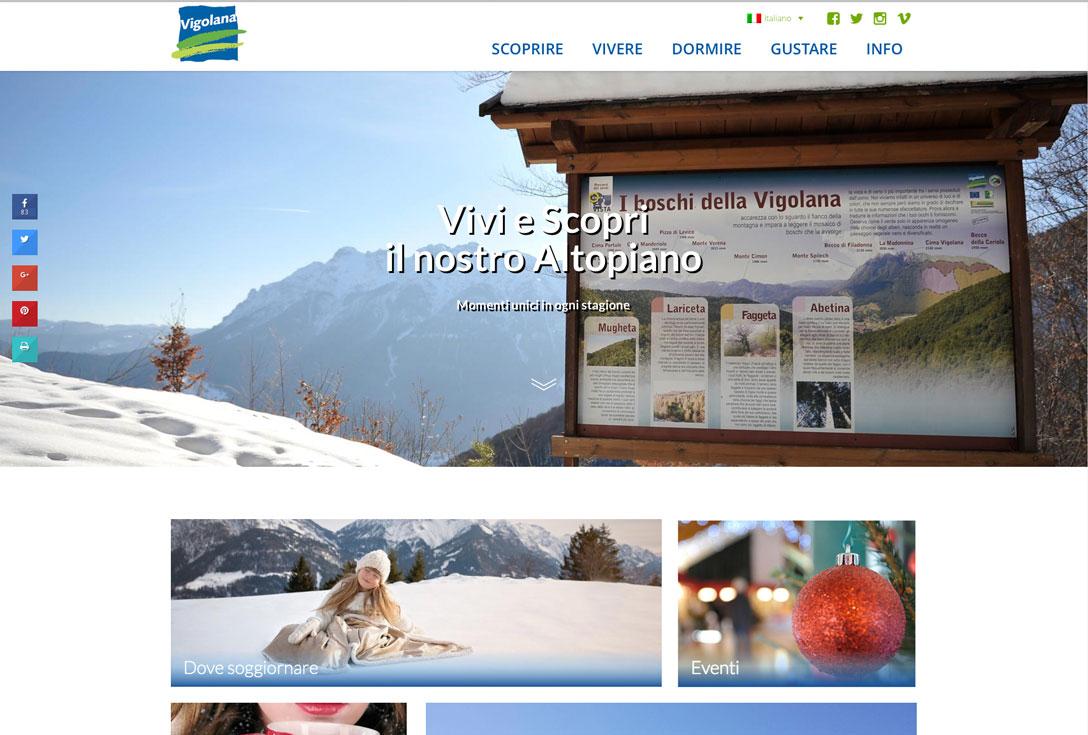 Realizzazione siti web trento - vigolana2.0 0
